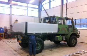 Tillverkning av flak till terränggående fordon. Uppdragsgivare Swedmog, slutkund FMV